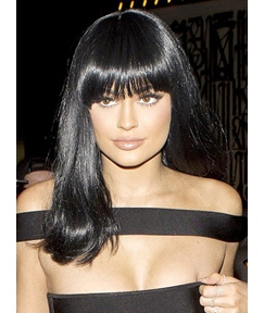 Kylie Jenner Pretty Medium Straight Capless Synthetic Hair Wig 16 Inches
