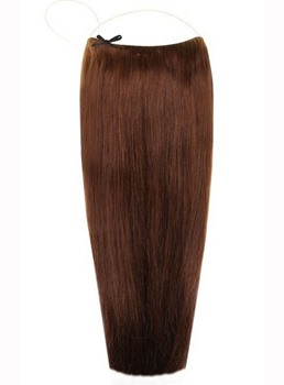 Choc Brown #4 Smooth Straight Human Hair Flip In Hair Extension