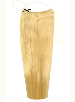 Light Blonde #613 Straight Human Hair Flip In Hair Extension