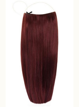 Plum #99J Smooth Straight Human Hair Flip In Hair Extension
