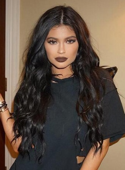 Kylie Jenner Long Wavy Lace Front Synthetic Hair Wig 24 Inches