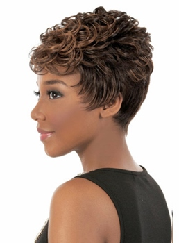 Fashionable Short Wavy Capless Synthetic Hair Wig 6 Inches