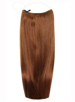Light Brown #6 Smooth Straight 100% Human Hair Flip In Hair Extension