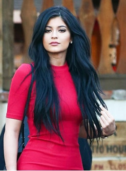Kylie Jenner Long Natural Wave Lace Front Human Hair Wig 24 Inches