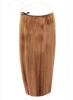 Chestnut #8 Straight Human Hair Flip In Hair Extension
