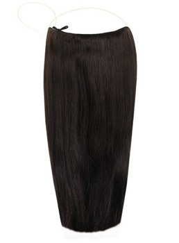 #1B Smooth Straight Human Hair Flip In Hair Extension