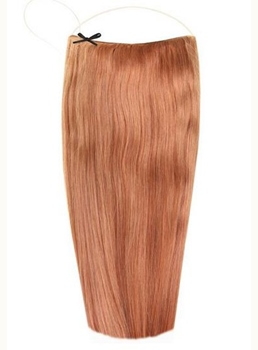 Light Auburn #30 Straight Human Hair Flip In Hair Extension