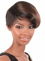 High Quality Short Straight Capless Synthetic Hair Wig 8 Inches