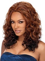 Charming Medium Curly Capless Synthetic Hair Wig 16 Inches
