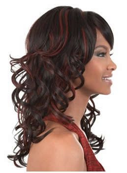 Mixed Color Medium Wavy Capless Synthetic Hair Wig 16 Inches