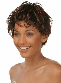 Boy Cut Short Straight Synthetic Hair Capless Wig 6 Inches