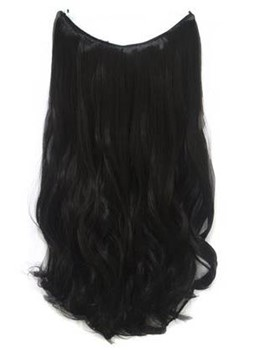 Natural Black #1 Wavy 100% Human Hair Flip In Hair Extension (Free Shipping)