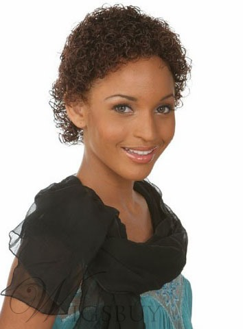 New Arrival Kinky Curly Short Capless Synthetic Hair Wig 6 Inches