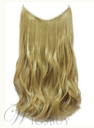 Honey Blonde #27 Wavy 100% Human Hair Flip In Hair Extension
