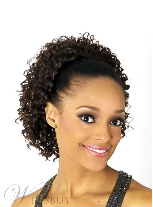 Kinky Curly Synthetic Medium Length Drawstring Ponytail for Black Women   Wigsbuy.com 65ce323a6