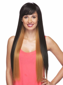 Unique Super Long Straight Capless Synthetic Hair Wig 28 Inches