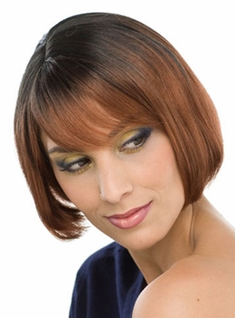 Short Straight Bob Capless Synthetic Hair Wig 10 Inches