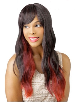 Attractive Colored Long Wavy Capless Synthetic Hair Wig 22 Inches