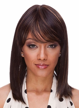 Top Quality Medium Straight Synthetic Hair Capless Wig 14 Inches