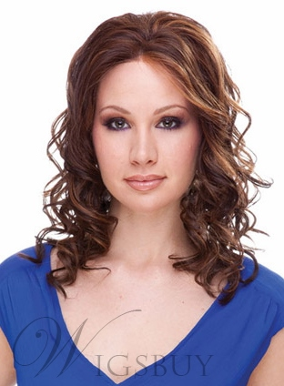 Attractive LOB Style Medium Wavy Synthetic Hair Capless 16 Inches Wig 11623429