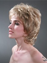 Elegant Short Layered Loose Wavy Capless Synthetic Wig 10 Inches