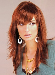 Elegant Long Straight Fluffy Capless 18 Inches Synthetic Hair Wig