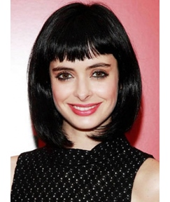 Lovely Short Straight Lob Hairstyle Capless Synthetic Wig 14 Inches