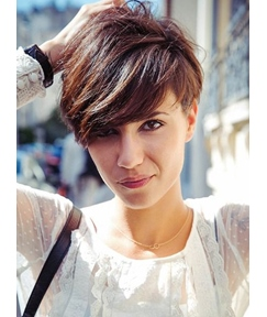 Super Cool Short Straight Wig 100% Human Hair Monofilament Wig