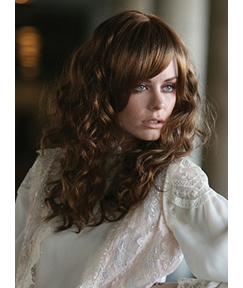 Elegant Long Wavy Capless 16 Inches Synthetic Hair Wig with Bangs
