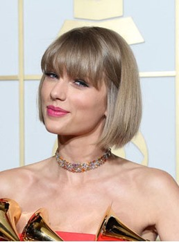 Lovely Taylor Swift Bob Hairstyle Capless Human Hair Wig 10 Inches