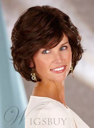 Beautiful Short Wavy Synthetic Hair Capless Wig 10 Inches 11635493