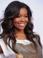 Gabrielle Union Medium Loose Wave Lace Front Synthetic Hair Wig 18 Inches