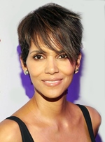 Halle Berry Short Straight Mono Top Human Hair Wig 6 Inches