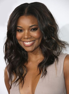 Attractive Gabrielle Union Long Wavy Lace Front Synthetic Hair Wig 18 Inches