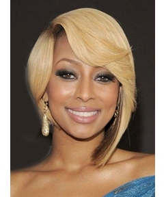 Keri Hilson Medium Straight Asymmetric Full Lace Human Hair Wig 12 Inches