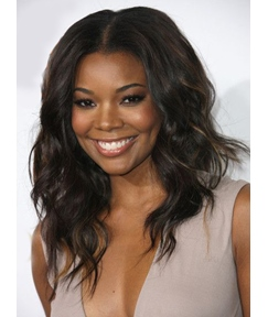 Gabrielle Union Long Wavy Lace Front Synthetic Hair Wigs 18 Inches