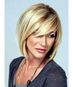 Short Straight Bob Hairstyle Synthetic Capless Women Wigs 10 Inches
