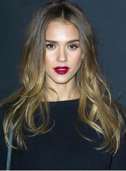 Jessica Alba Long Wavy Lace Front Synthetic Hair Wigs 18 Inches