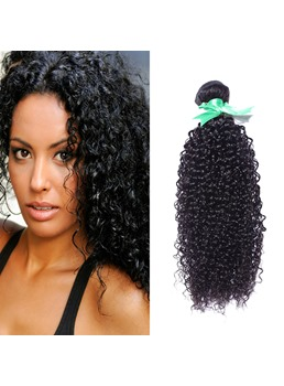 African American Kinky Curly Human Hair Weave 1 PC