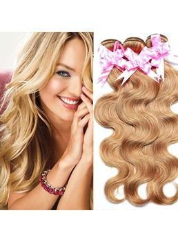 100% Human Hair Body Wave Blonde Color Weave 1 PC