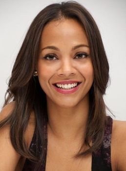 Zoe Saldana Medium Straight Lace Front Human Hair Wig 16 Inches