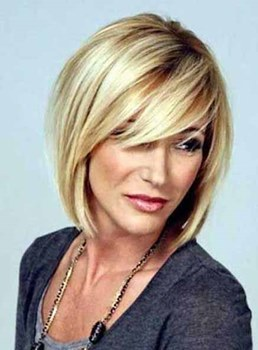 Short Straight Bob Hairstyle Synthetic Capless Wigs 10 Inches