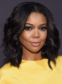 Gabrielle Union Lob Medium Wavy Lace Front Human Hair Wigs 14 Inches
