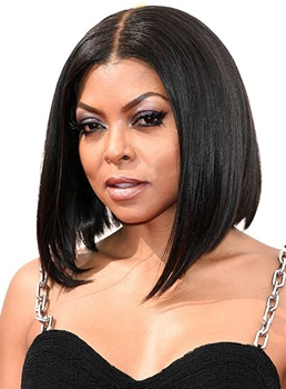 Taraji P Henson Lob Medium Straight Lace Front Synthetic Hair Wig 14 Inches
