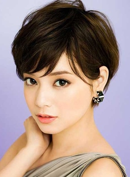 Charming Youthful Short Wavy Wig Synthetic Hair Capless 8 Inches