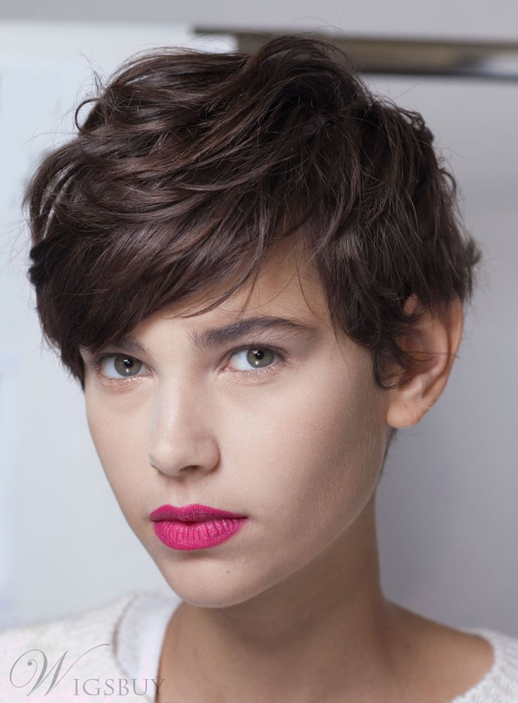Hot Sale Layered Short Straight Mono Top Synthetic Hair Wig 8 Inches 11640551