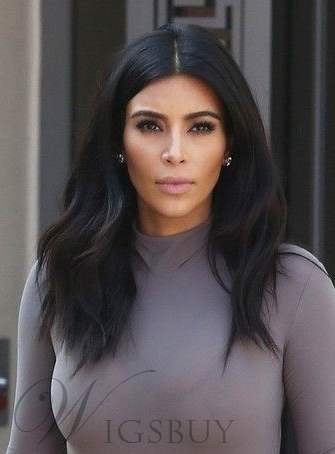 Kim Kardashian Long Natural Wave Lace Front Synthetic Hair Wig 18 Inches
