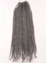 Black and White African American Rope Twist Braid 18 Inches