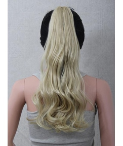 Charming Long Wavy Light Golden Synthetic Ponytail
