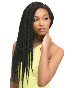 Black Women Twist Afro Braid 22 Inches